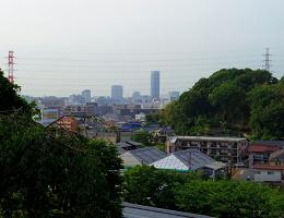 西方寺の墓地からの景色