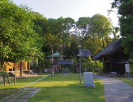 西方寺の境内